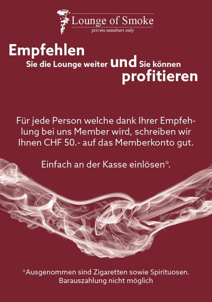 Lounge of Smoke Empfehlung